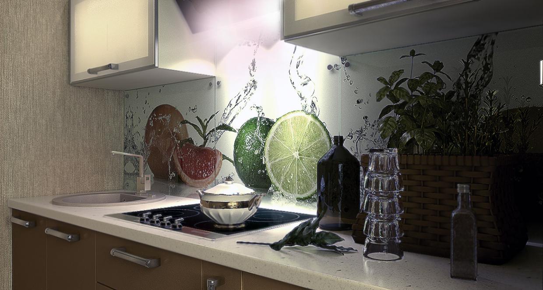 सामान्य सेंट पीटर्सबर्ग odnushku में सामान्य रसोई। 3d max vray 2.5 में प्रस्तुत छवि