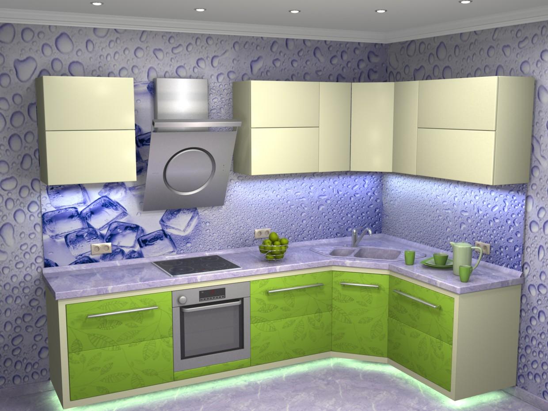 "3d визуализация проекта Кухня ""Летняя свежесть"" в 3d max, рендер vray от dzy"