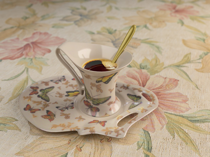 cup and saucer in 3d max vray 1.5 image