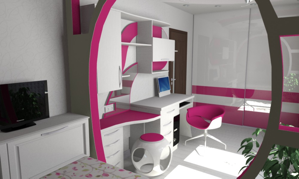 My bedroom in 3d max vray image