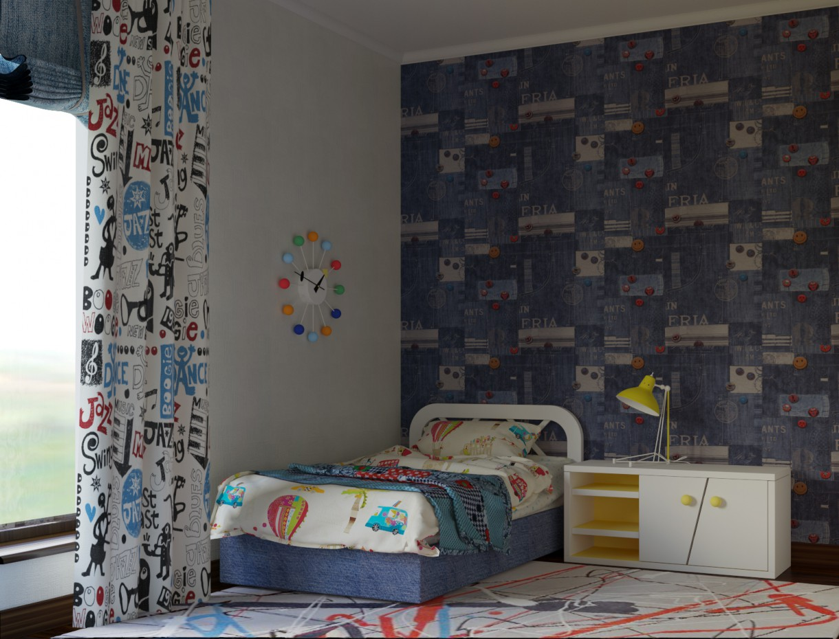 Bedroom for a 5 years old boy design and visualization - Bedroom ideas for 3 year old boy ...