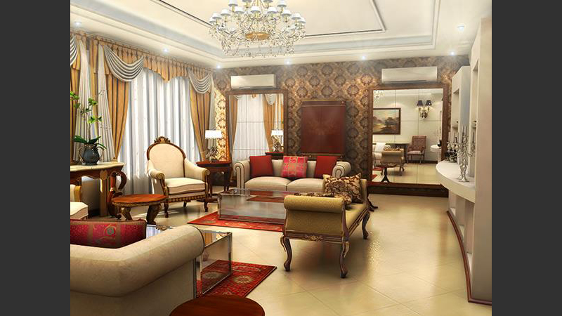Drawing Room in 3d max vray 2.0 image