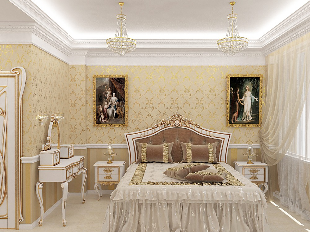 3d візуалізація проекту Спальня в 3d max, рендер vray від Alyona