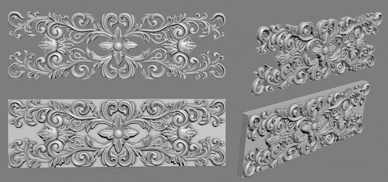 Декор для мебели в 3d max Other изображение