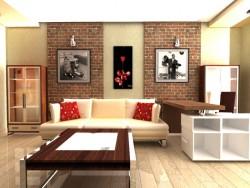 संगीत प्रेमी के लिए रहने वाले कमरे