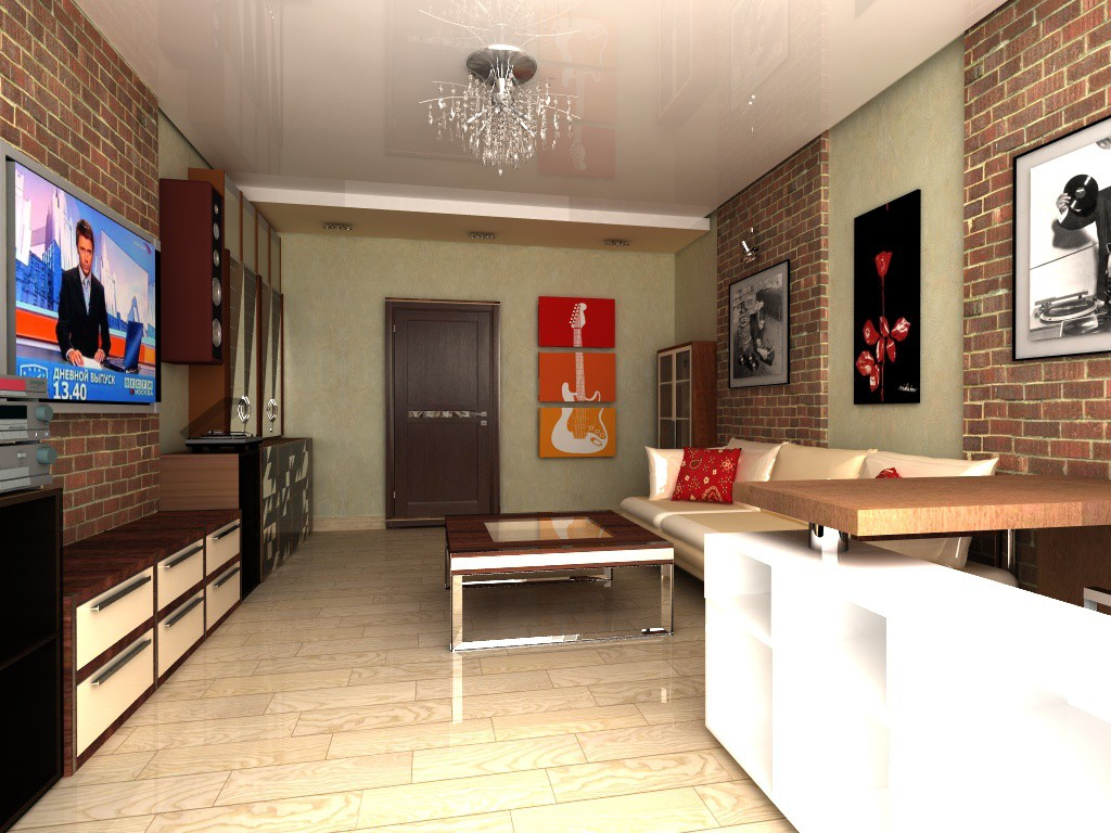 Interior living room for music lover for Living room cinema 4d