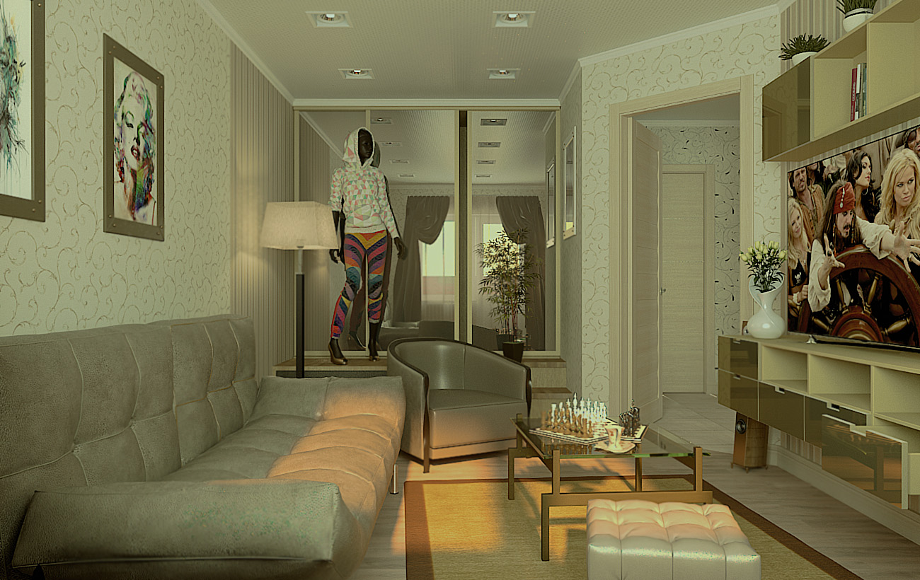 living room in 3d max vray 2.5 image