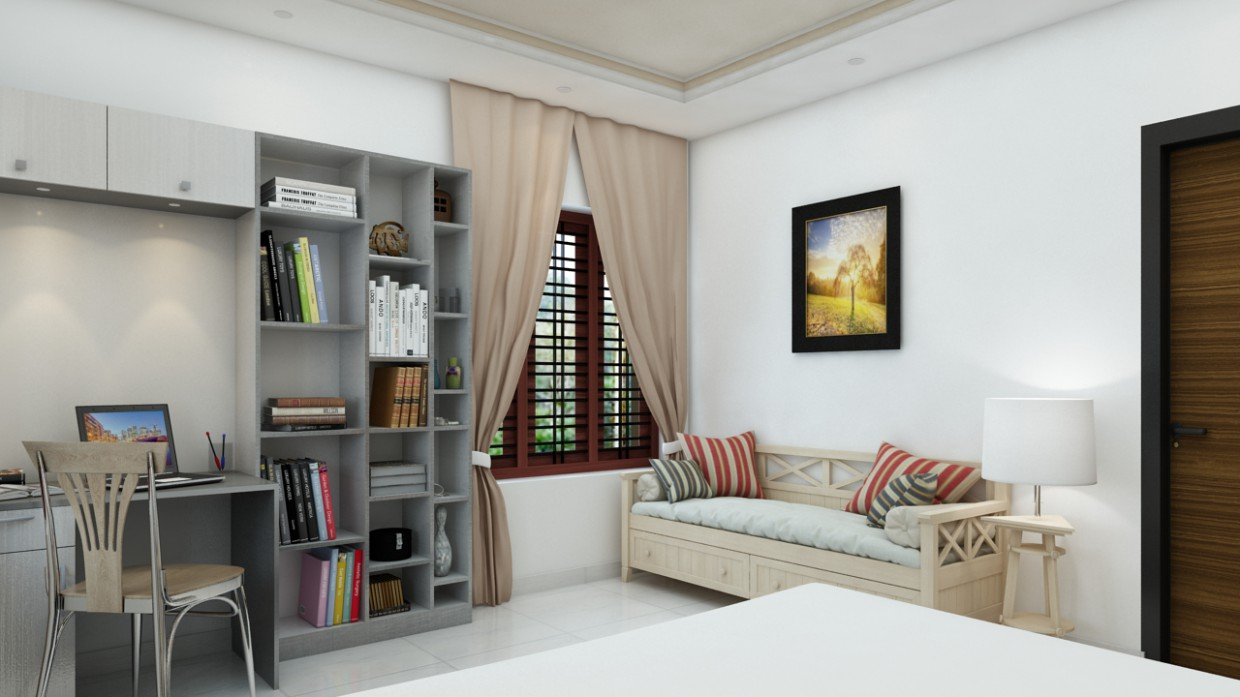bedroom in 3d max vray 2.5 image