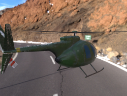 lowpoly helicopter model Hughes OH-6 Cayuse for mobile application