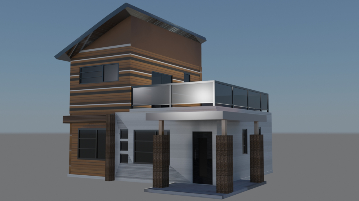 Tiny House in 3d max mental ray image