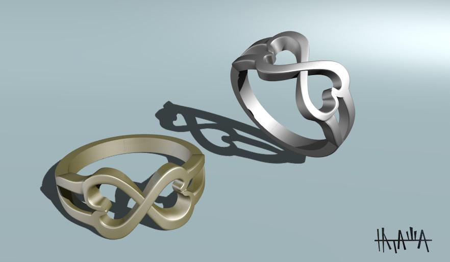 Rings in Blender blender render image