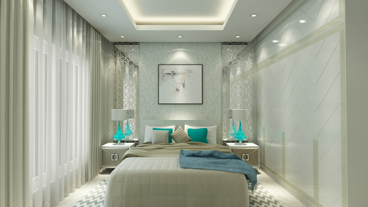 3d Visualization Modern Bedroom Interior Design 3dlancer Net