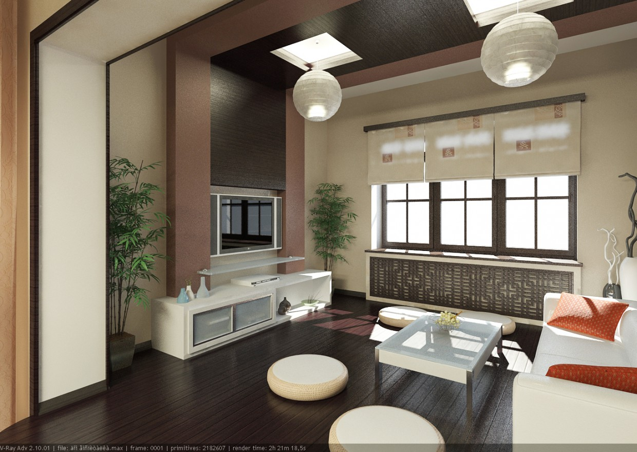 private house in 3d max vray image
