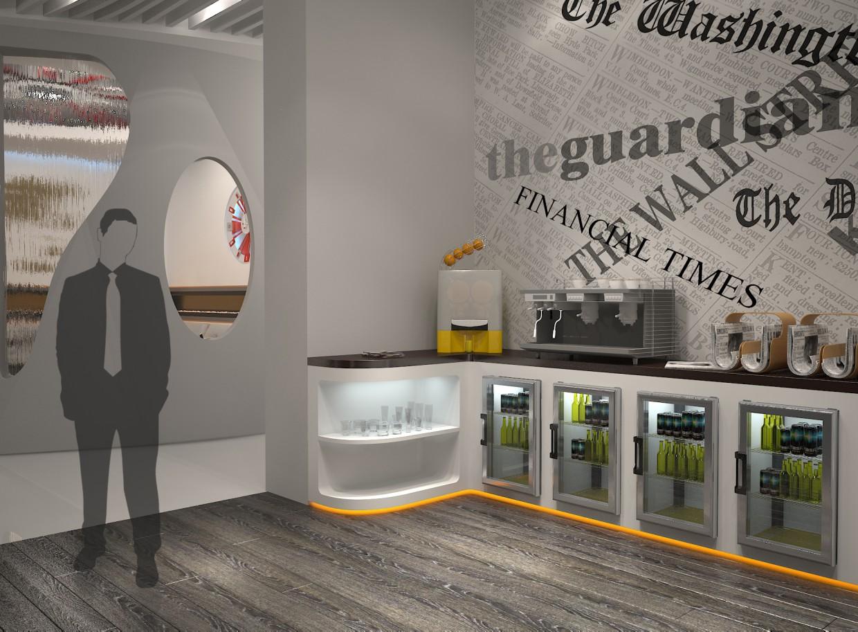 Дизайн - проект зоны отдыха аэропорта. (Дипломная работа) в 3d max vray изображение