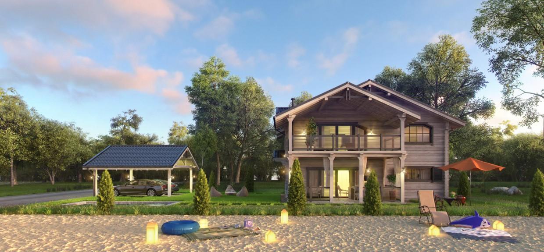 imagen de Casa en una orilla en 3d max vray