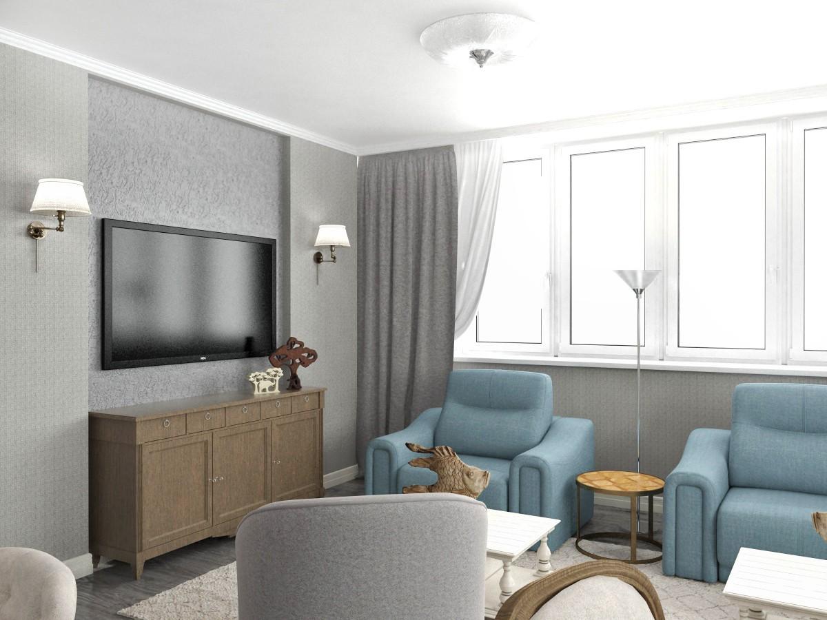 Квартира для мамы в 3d max vray 3.0 изображение