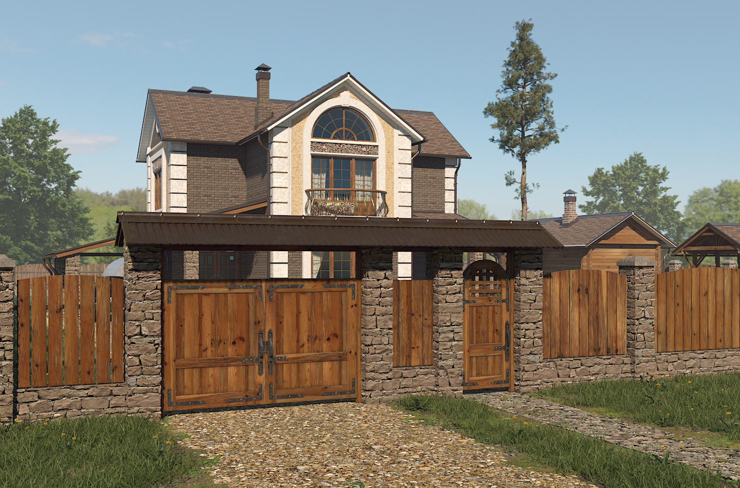 Visualization of a private ownership project. in 3d max corona render image