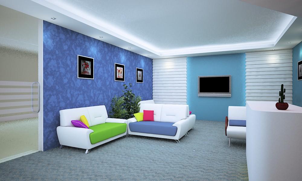 Зона ожидания Стоматологическая клиника в 3d max vray изображение