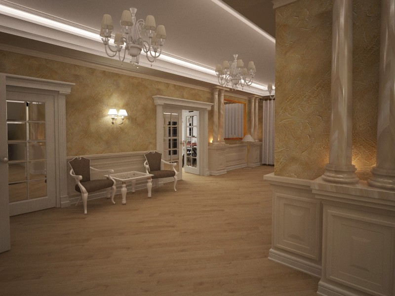 Home design  in  3d max   vray  image