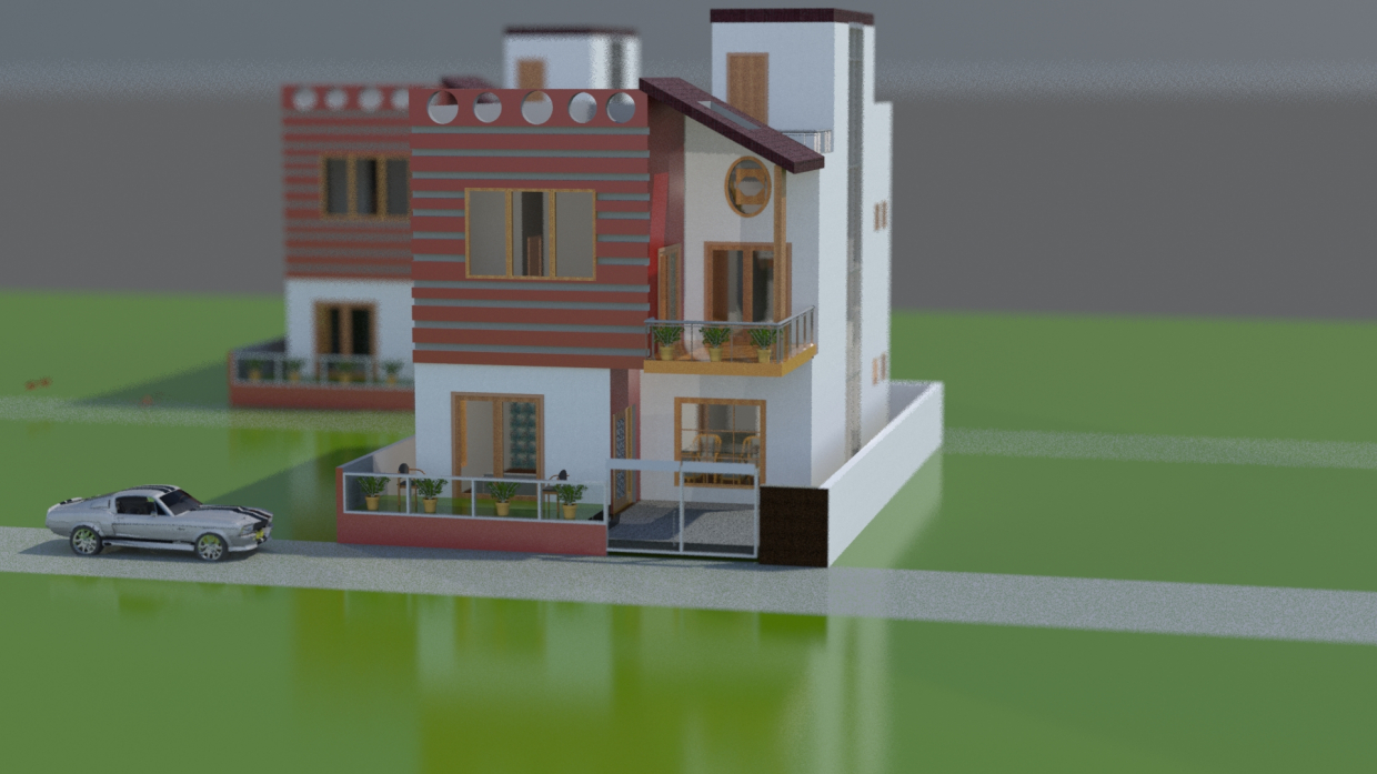 Sweet home in 3d max mental ray image