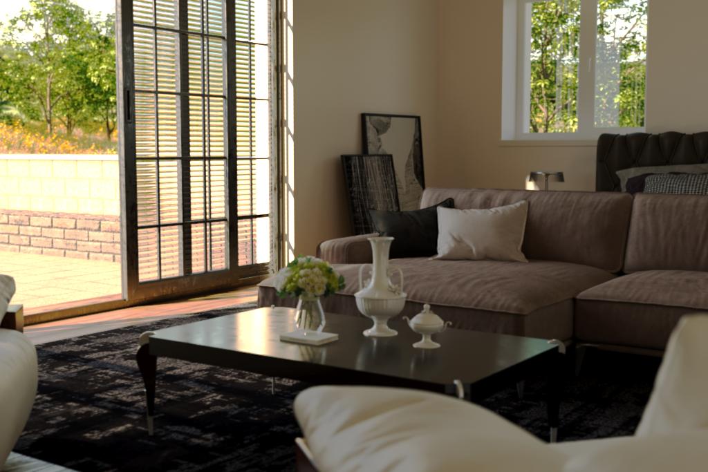 बाकी कमरे 3d max corona render में प्रस्तुत छवि