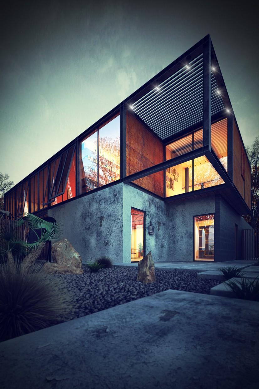 imagen de Casa de metal en 3d max vray