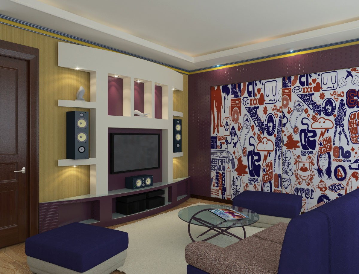 3d visualization of the project in the Design livingroom Lugansk 3d max, render vray 2.0 of jupiter