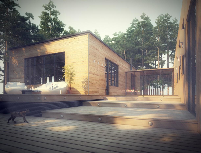 imagen de Casa de madera en 3d max vray