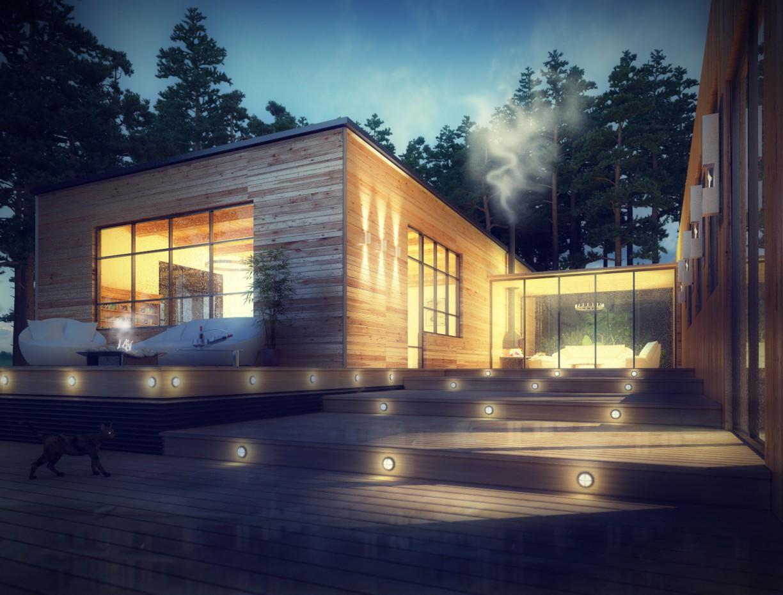 Wooden House в 3d max vray изображение