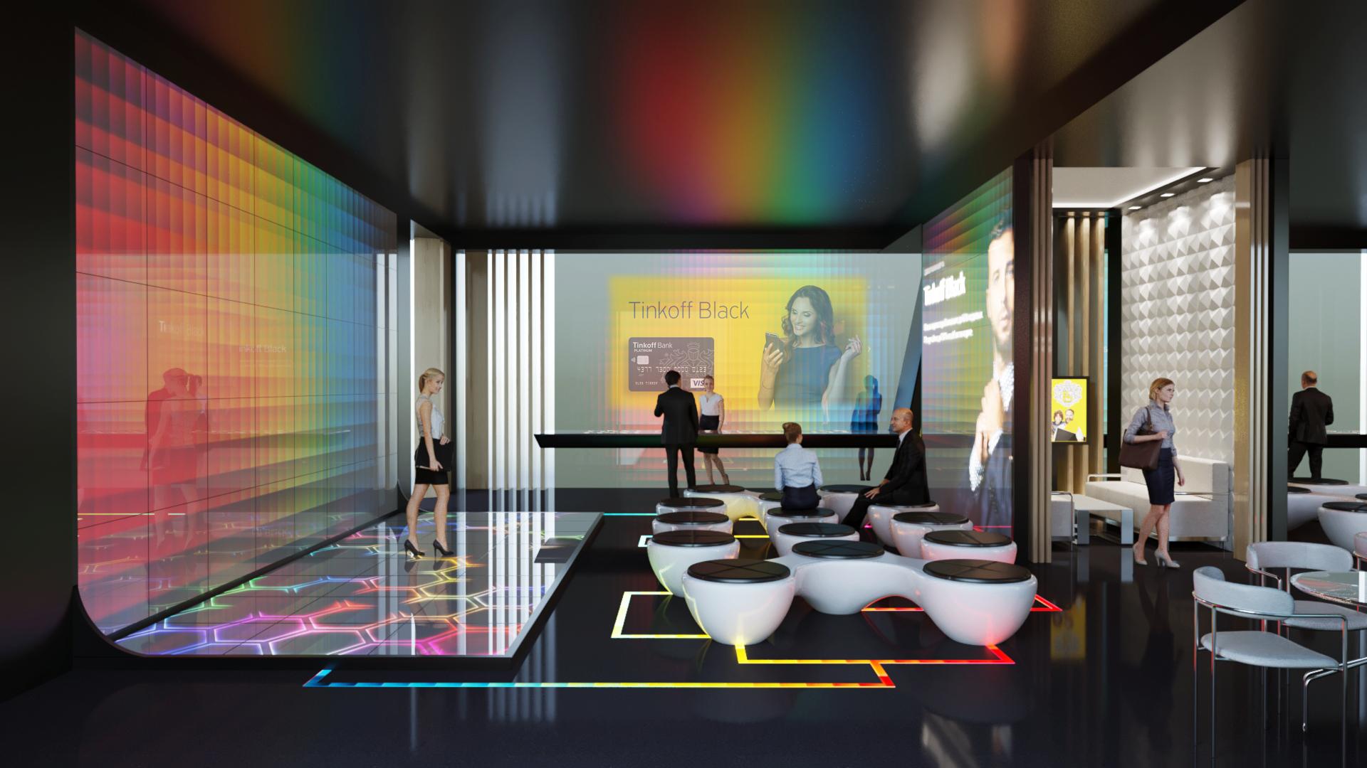 टिंकऑफ़ रेस्तरां कॉन्सेप्ट 3d max corona render में प्रस्तुत छवि