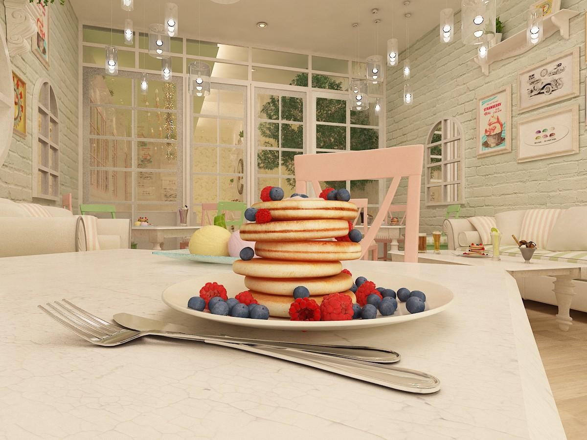 Enjoy Dessert! in 3d max vray image