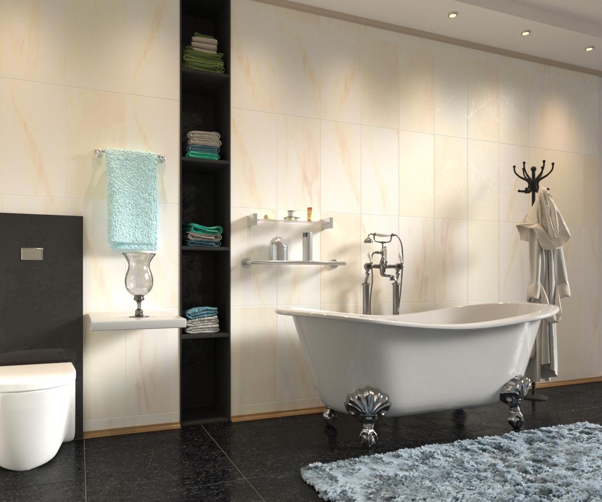 बाथरूम आंतरिक संरचना 3d max corona render में प्रस्तुत छवि