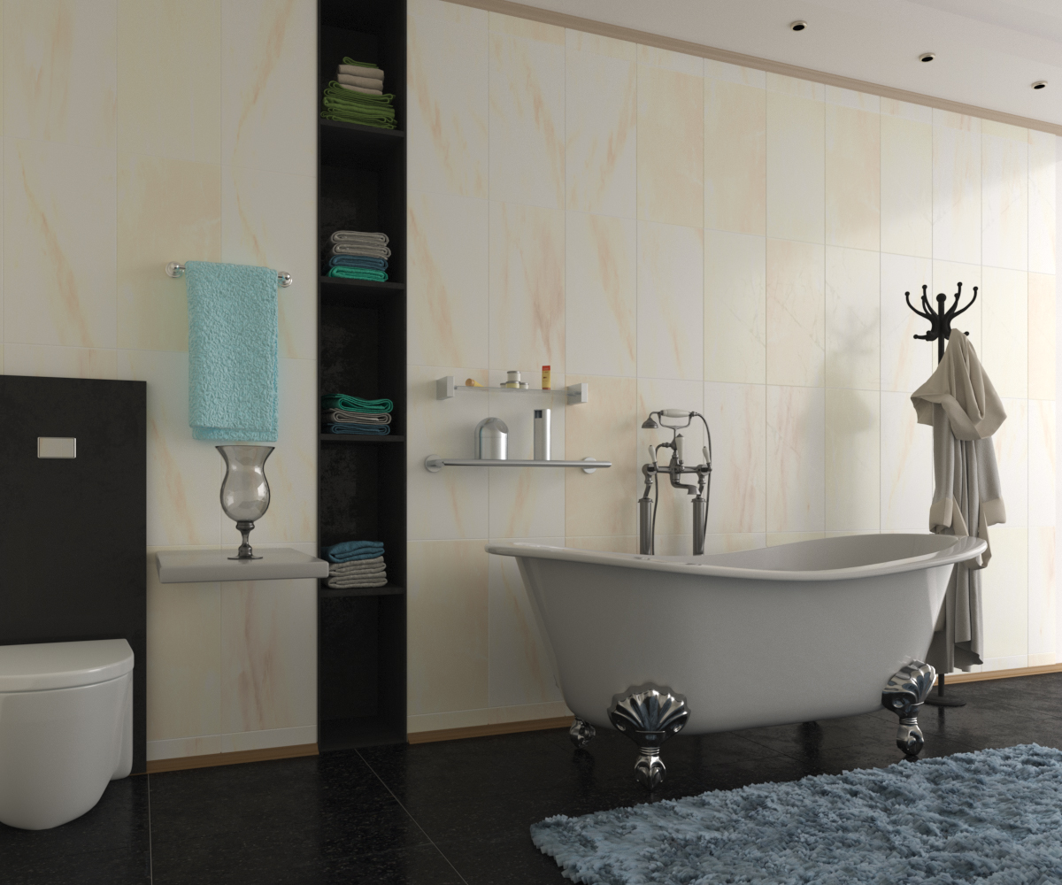 Bathroom Interior Composition 3d Visualization And Design Work In 3d Graphics On The Site 3dlancer Net