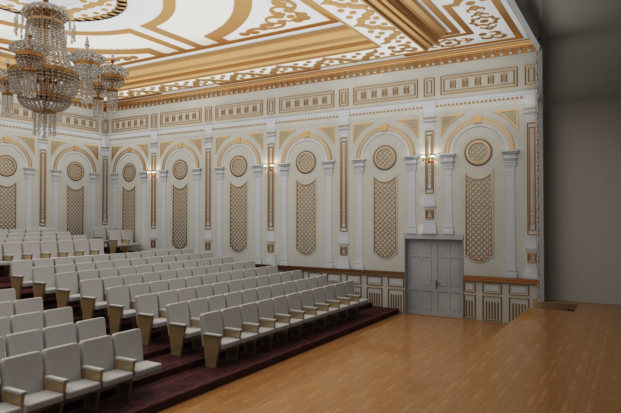 Meeting room  in  3d max   vray  image