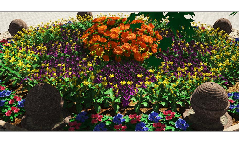 गर्मी के रंग 3d max vray 3.0 में प्रस्तुत छवि