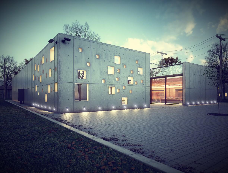 Crematorium in Croatia в 3d max vray изображение