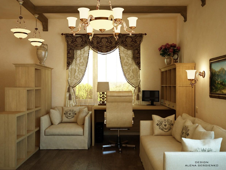 Кабінет-зона в приватному будинку в 3d max vray зображення