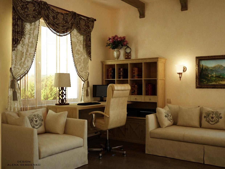 imagen de Oficina en una casa privada en 3d max vray