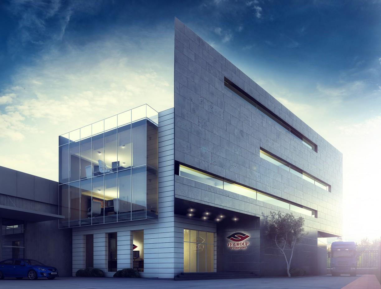 FF Group office в 3d max vray изображение