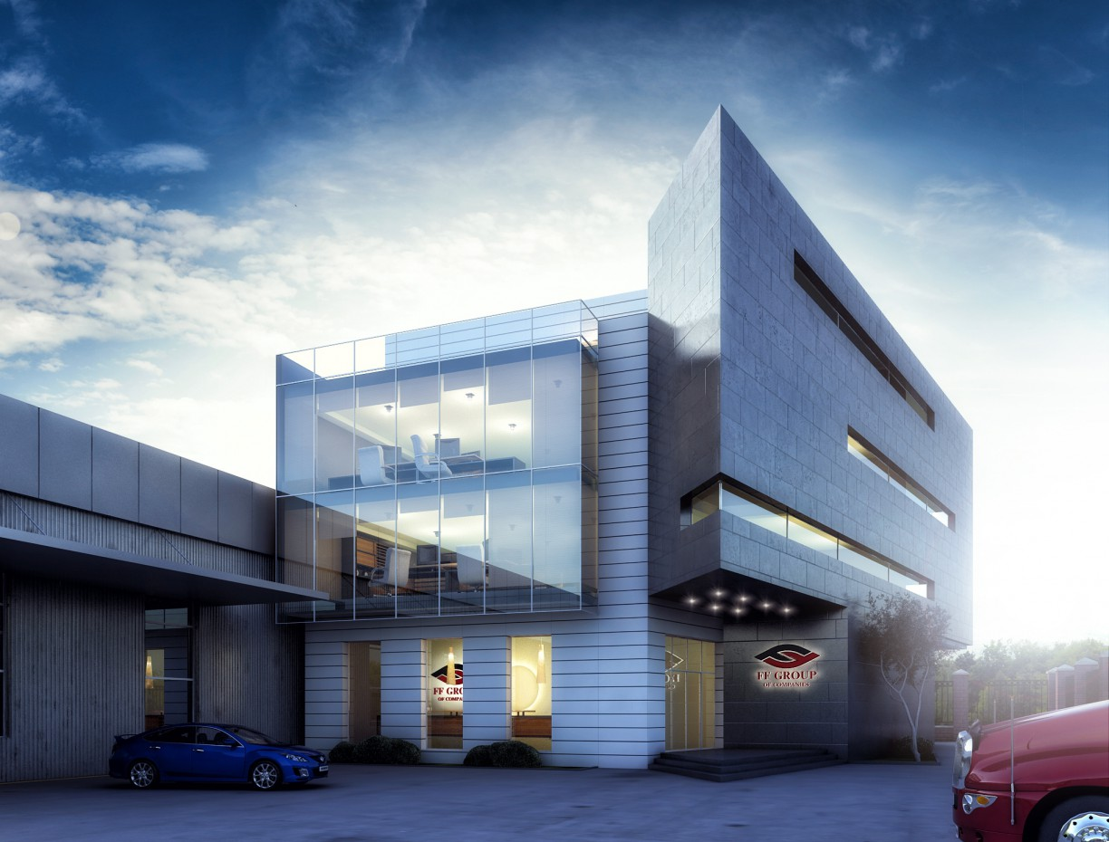 FF Group office in 3d max vray image