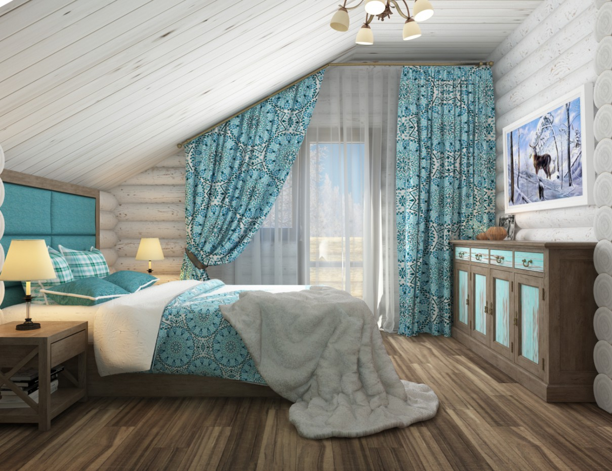 Interior bedroom chalet style by user used render vray 3 0 - Chalet deco ...