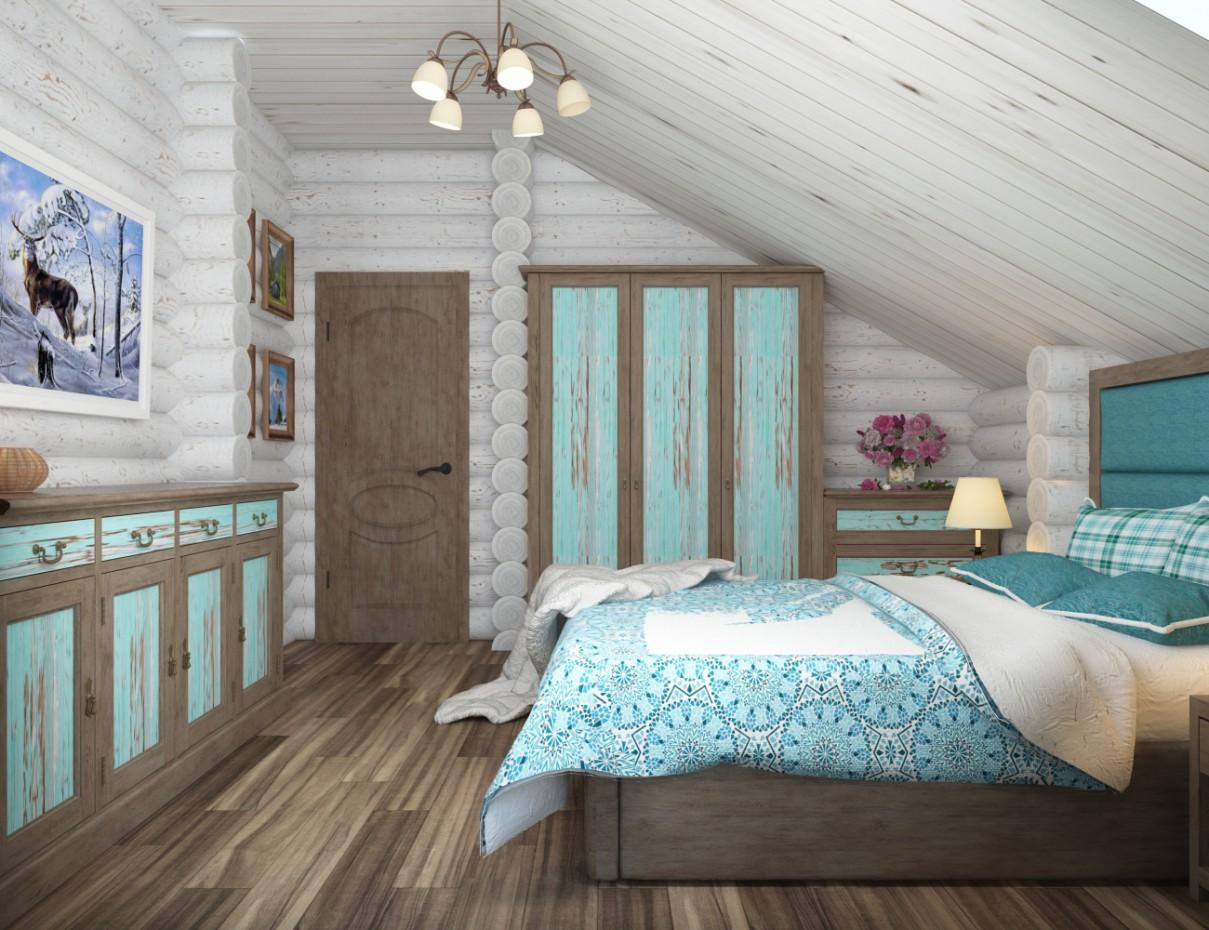 Спальня в стиле шале! в 3d max vray 3.0 изображение