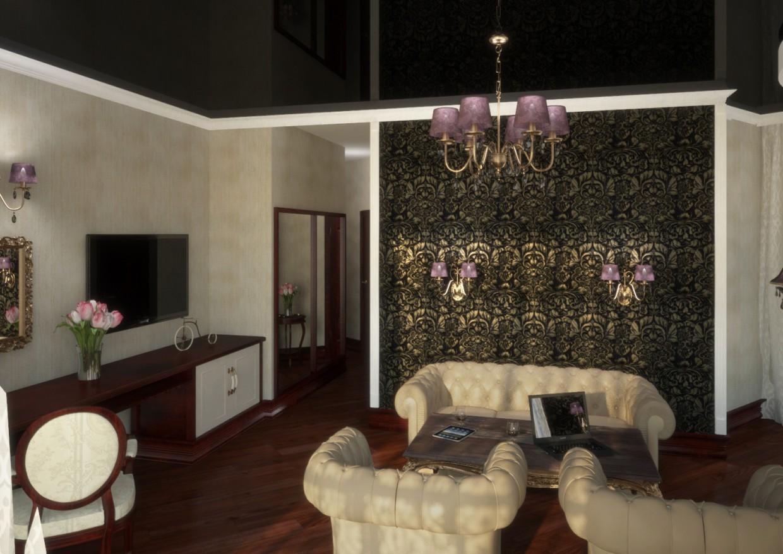 Salle de bains de luxe dans 3d max vray image