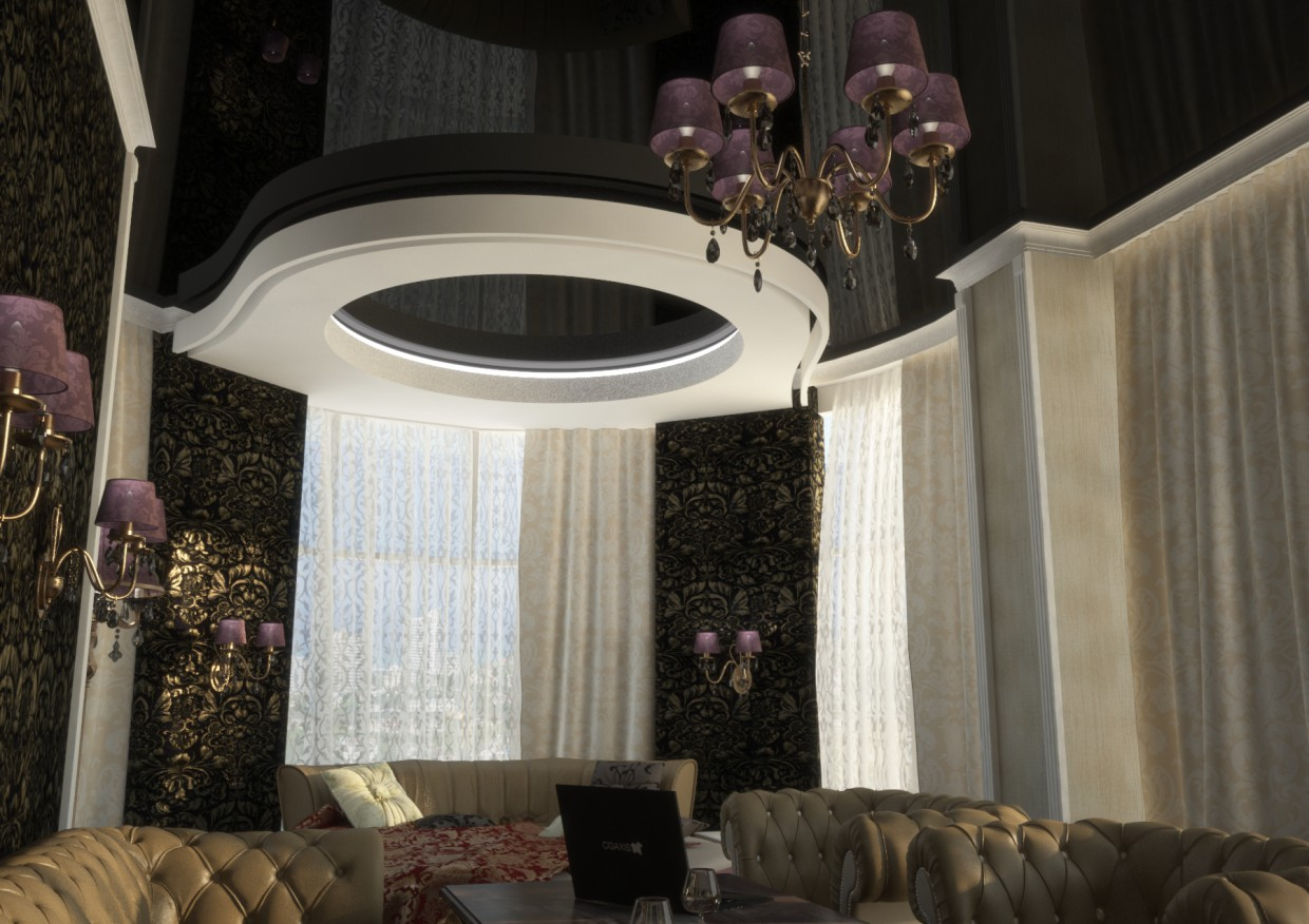 Luxury suite room in 3d max vray image