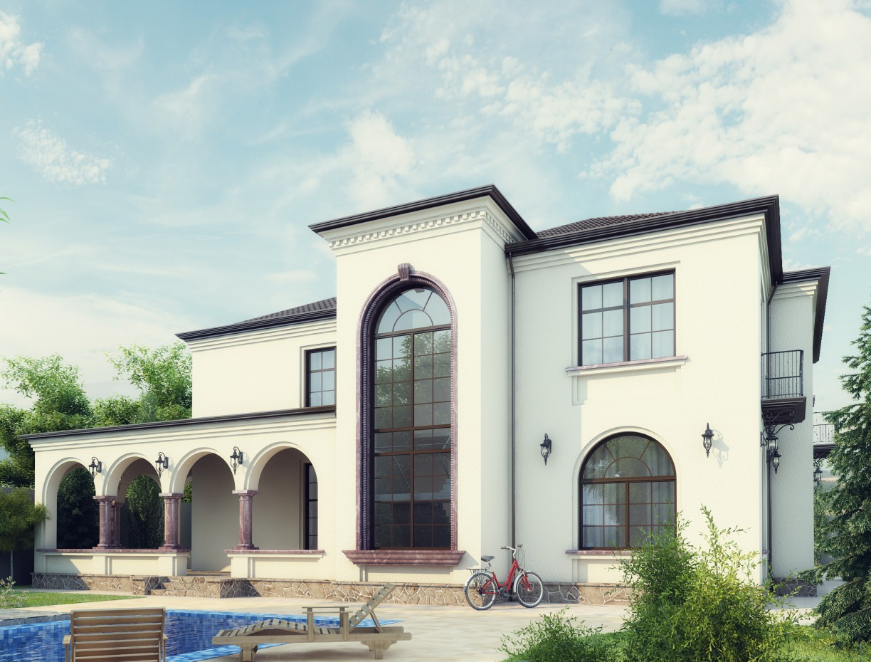Villa in Baku. Mardakan. in 3d max vray image
