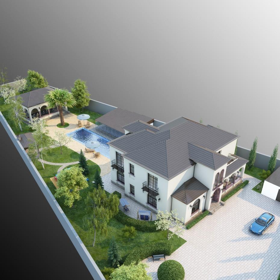 Villa in Baku.Mardakan. в 3d max vray изображение
