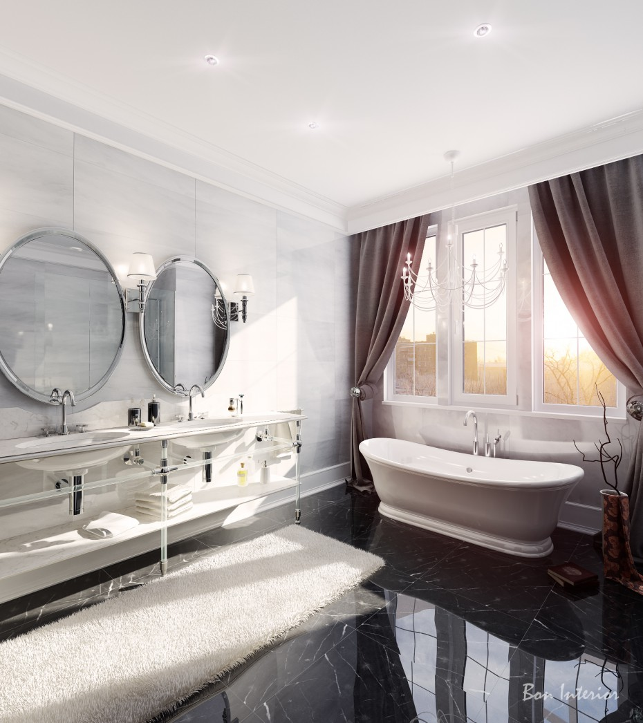 Bathroom-Mountclair in 3d max vray image
