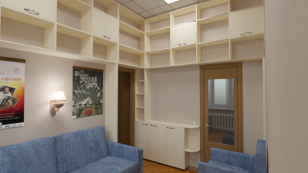 3d visualization of the project in the Rest room 3d max, render corona render of Bobrenjatko