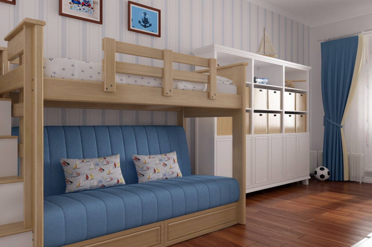 Child's room for a boy in 3d max vray 3.0 image