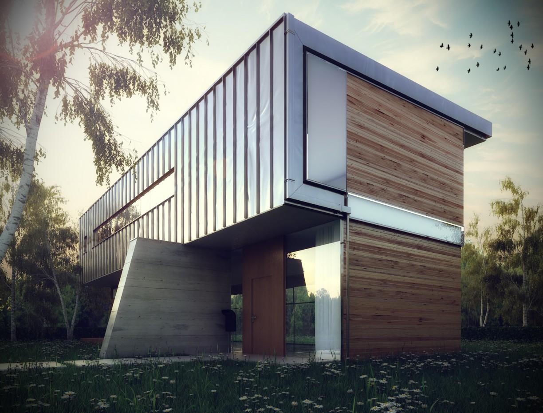 Metal House. в 3d max vray изображение